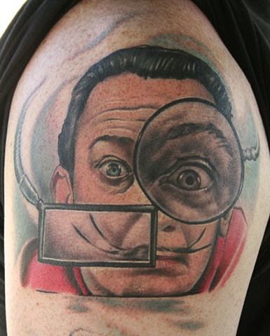 The great Salvador Dali done at the Chicago Body Art Expo
