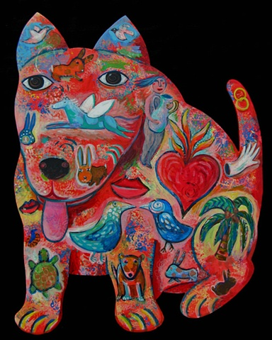 This is part of a series I'm painting for the Man's Best Friend Show at the Santa Cruz County Bank In Jan 2010