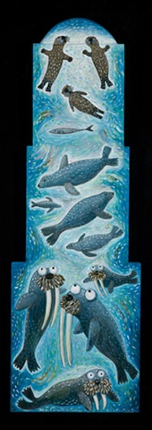 Folk Art sea mammals