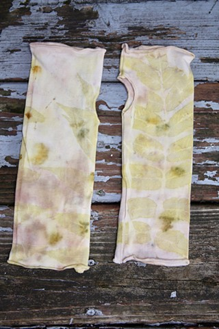 Eco Print hard and arm warmers