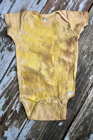 Eco print baby clothes