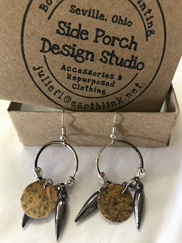 Earrings and eco print