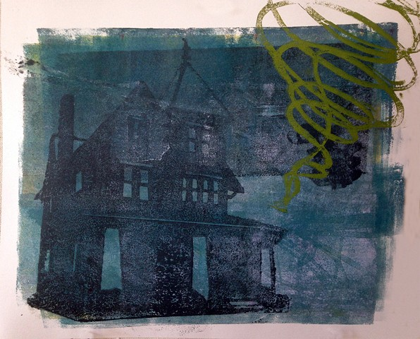 monotype, tornado, printmaking