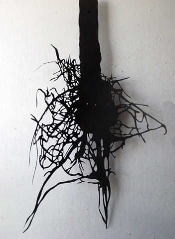 Cut paper root shape