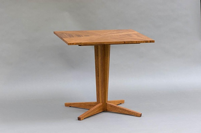 Handmade wood parquetry table