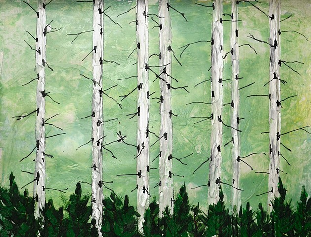 forests, nature, art, encaustic