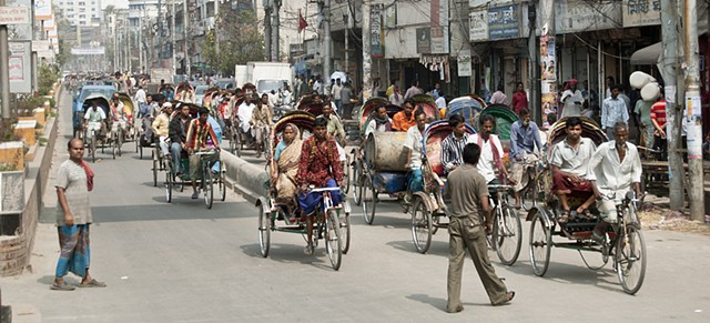 rickshaw, bicycle, transportation