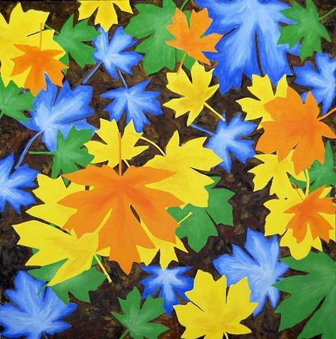 Maple leaves, fall colours