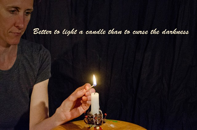 Proverb, saying, candle, light, darkness