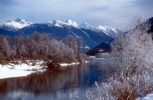 Lillooet River in Pemberton Valley
