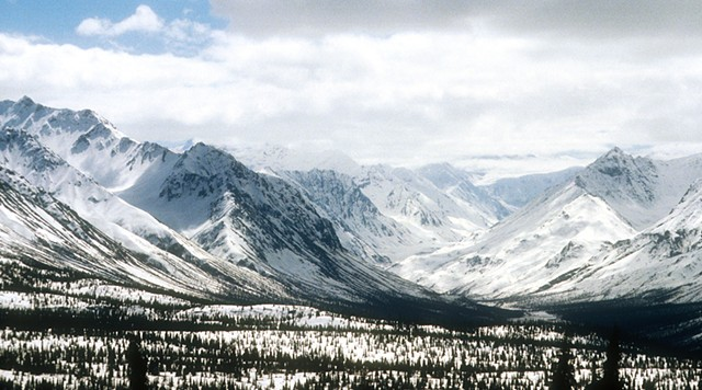Alaska, mountains, snow