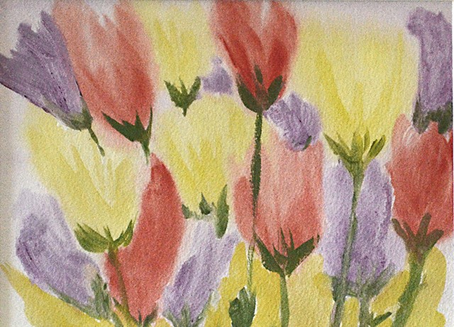 Flowers, bouquet, watercolour