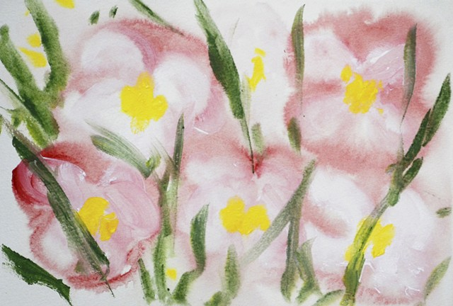 watercolour, watercolor, flowers, art