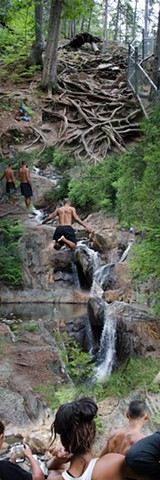 Swimming in a Mountain Stream