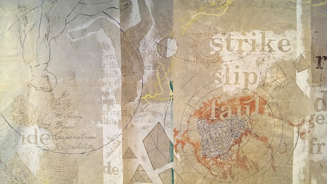 earth body landscape, patterns, translucency, text, maps