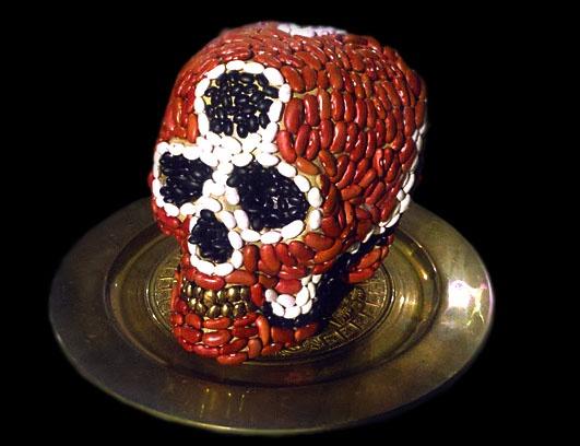 Frijole Encrusted Skull- Ode to Dambean Hurst
