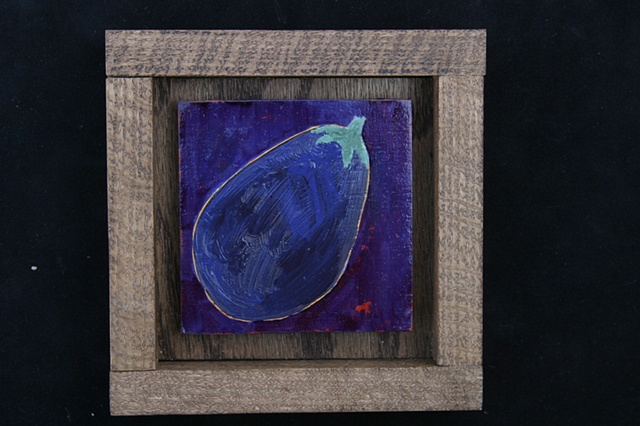 eggplant on purple