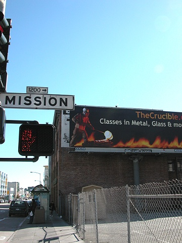 Crucible Billboard  Mission Street @ 8th Street San Francisco California