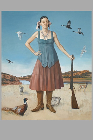 Portrait as Woman guarding Prairie