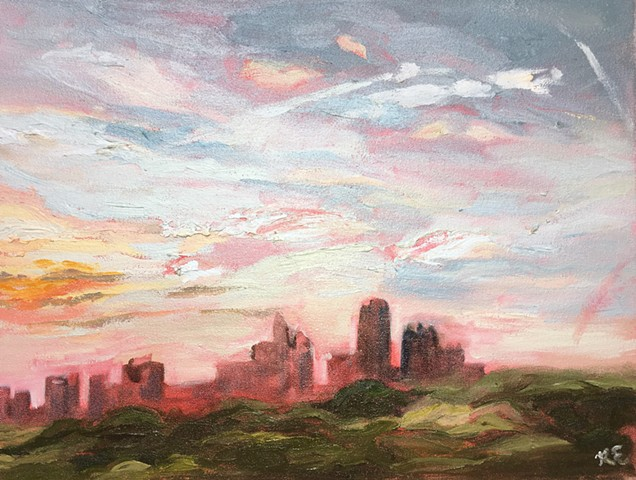 Atlanta Sunset, plein air