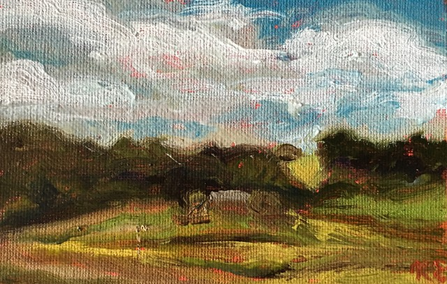 Painted en plein air - Floyd, VA