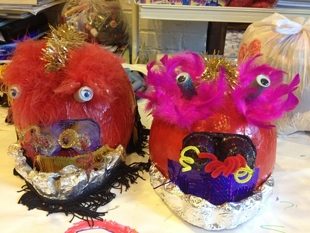 Chinese New Year lion dancer masks