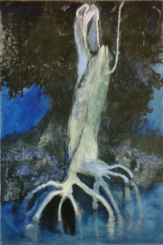 acrylic painting on canvas of The Stump