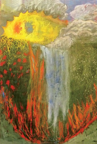 fire water, Truth or Consequences exhibition by Miranda L. Roussel, Tangent Gallery