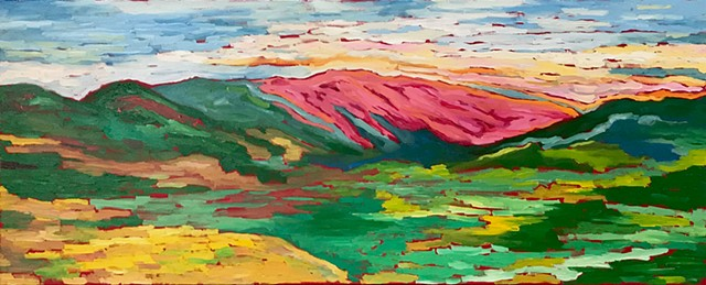Pink Mountains of Ojai #1