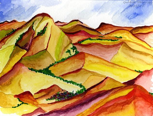 Zagros Mountains in Kurdestan