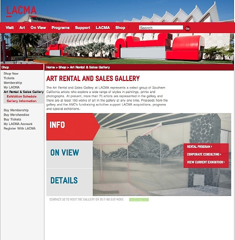 LACMA - Art Rental and Sales Gallery