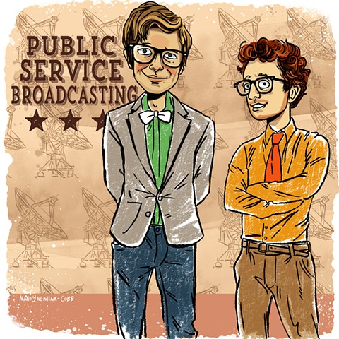 "illustration of ""Public Service Broadcasting"" for Sessions From the Box"