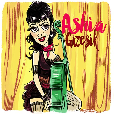 illo of Ashia Grzesik for Sessions From the Box