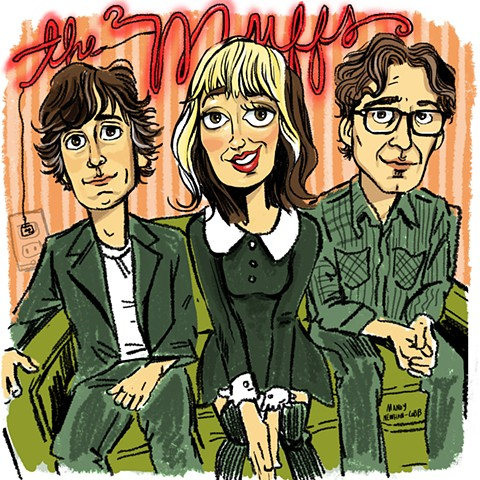 illo of The Muffs! for Session from the Box :)