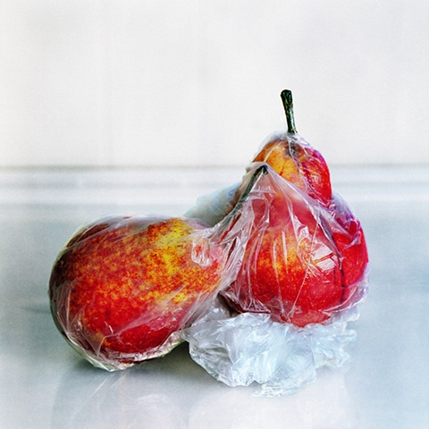 Red Pears in Bag