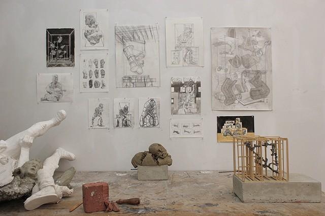 Sharpe Walentas Studio, various drawings and sculptures