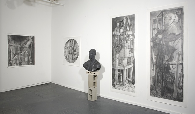Installation Shot (Holding It Together, Tondo, Jordan Bust II, Apostles I, Apostles II)