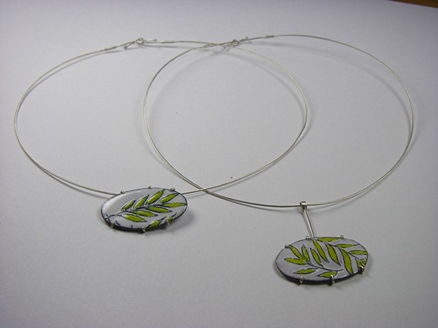 Leaf disc necklaces