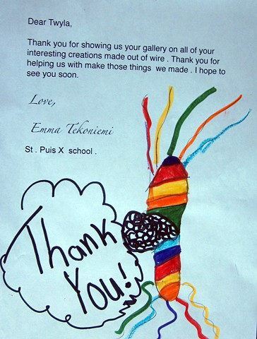 Thank you for the thank you letters! St. Pius X Catholic School Sault Sainte Marie, ON Grade 4 & 5