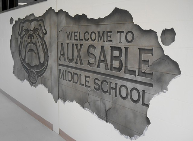 Aux Sable Entrance Mural: DETAIL