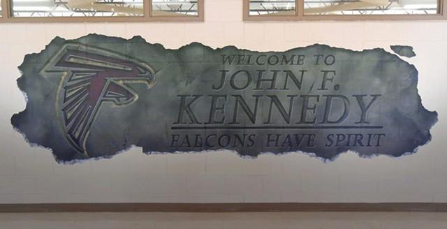 John F. Kennedy Entrance Mural