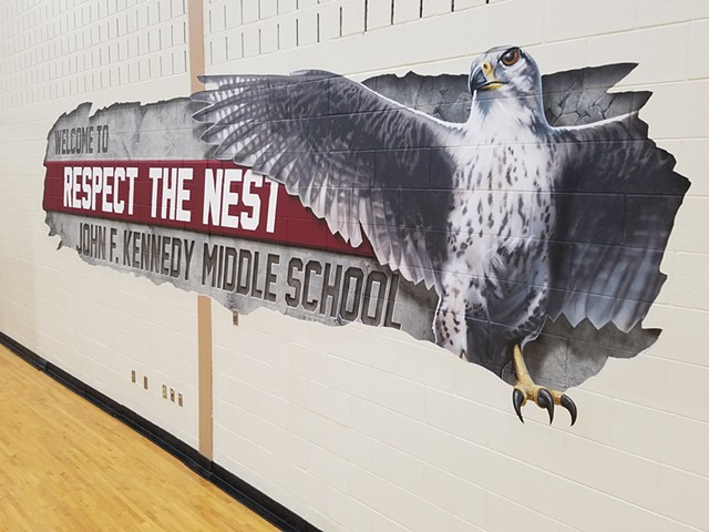 Gym Mural - Right side view