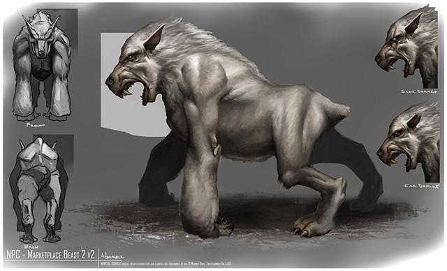 NPC - Market Place Beast 2  Creature Concept