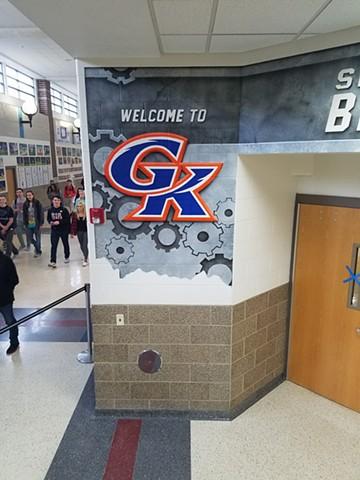 GK Gym Entry Mural - Left