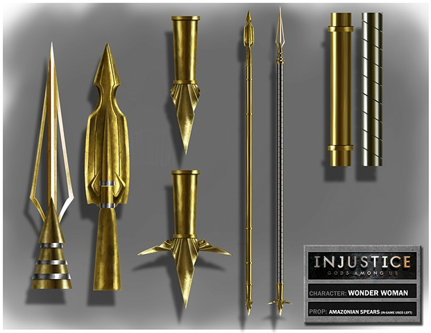Wonder Woman's Amazonian Warrior Spear Variations