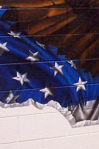 Ira Jones Mural 2 - Flag Detail: Stars