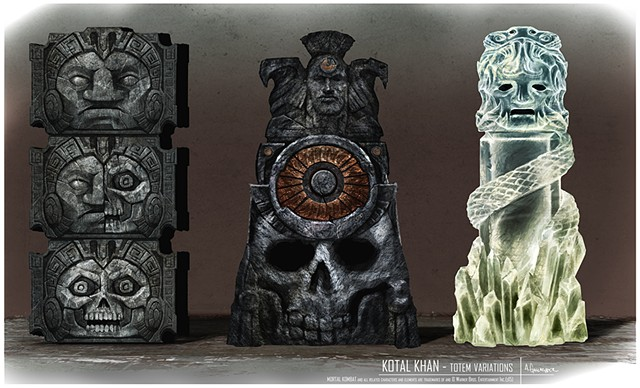 Kotal Kahn Prop Concept: Totems Created in conjunction w/ Max Hudetz