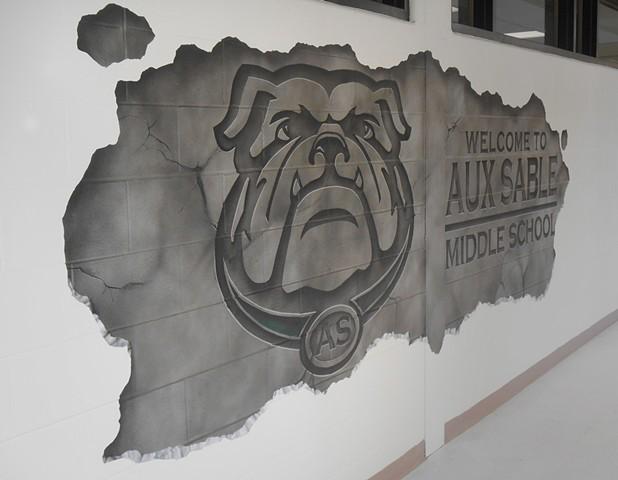 Aux Sable Entrance Mural: DETAIL