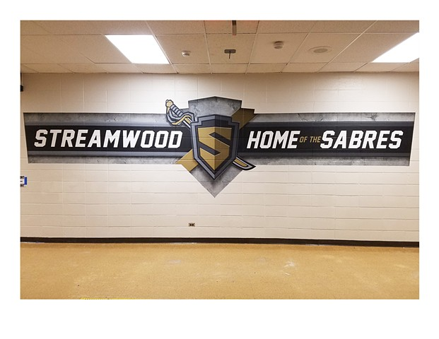 Streamwood Mural - Section 6 Center View