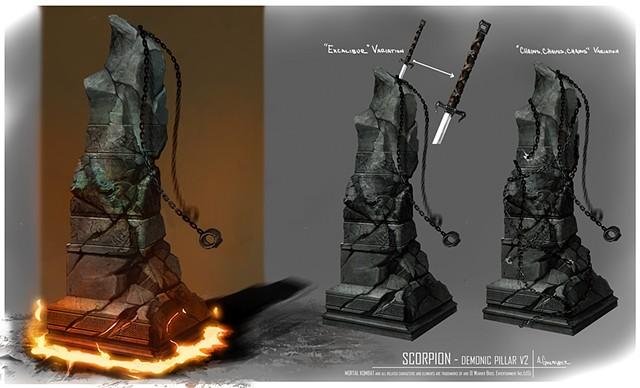 Scorpion  Prop Concept: Demonic Pillar